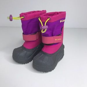 Columbia Sz 6 Girls Winter Boots Pink New
